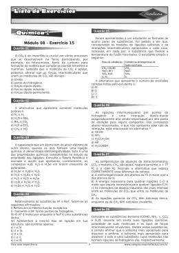 Lista de exercicios 3 Ano Apostila 02 Quimica I Modulo