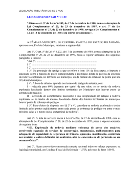 Lei Complementar nº 31
