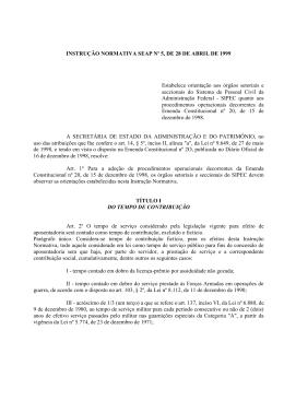 INSTRUÇÃO NORMATIVA SEAP Nº 5, DE 28 DE ABRIL