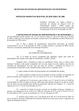 Instrução Normativa no. 05
