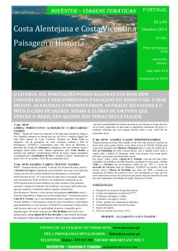 Costa Alentejana e Costa Vicentina Paisagem e História