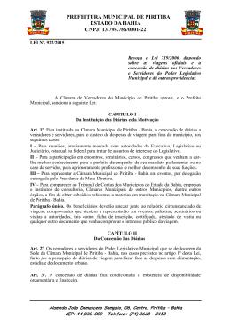 Lei Nº. 922/2015 - Portal da Prefeitura Municipal de Piritiba