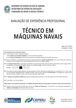 Técnico em Máquinas Navais - Governo do Estado do Rio de Janeiro