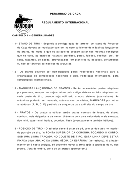 1 PERCURSO DE CAÇA REGULAMENTO INTERNACIONAL