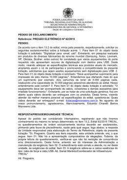 Maceió, 31 de janeiro de 2003 - Tribunal Regional Eleitoral de