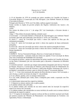Decreto-Lei n.º 316/89 de 22 de Setembro A 19 de Setembro de