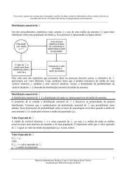 Distribuição Amostral - Milton Procópio de Borba