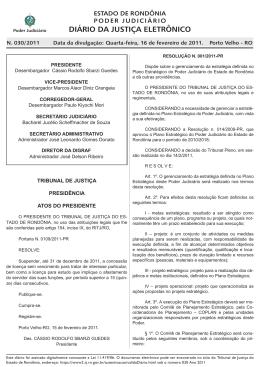 16 - Tribunal de Justiça de Rondônia