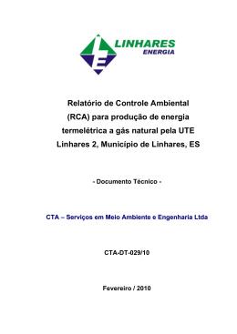 RCA UTE Linhares II - CTA-DT029/10 Proc. 40582086