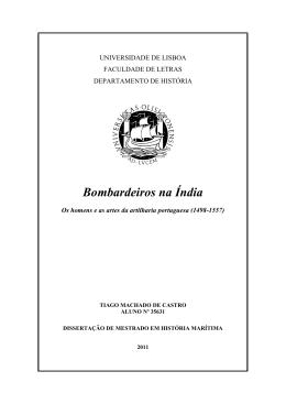 Bombardeiros na Índia - Repositório da Universidade de Lisboa