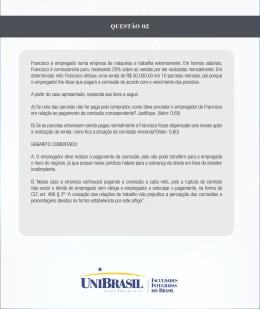 QUESTÃO 02 - UniBrasil