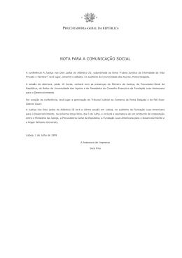"""Conferência """"A Justiça nos Dois Lados do Atlântico"""" III"""