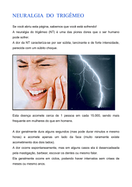 NEURALGIA DO TRIGÊMEO