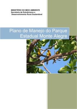 Plano de Manejo do Parque Estadual Monte Alegre
