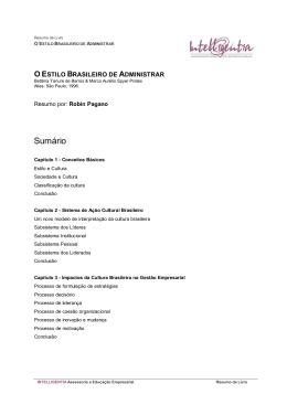 resumo: O Estilo Brasileiro de Administrar