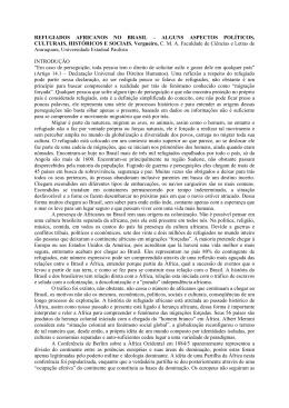 REFUGIADOS AFRICANOS NO BRASIL – ALGUNS ASPECTOS POLÍTICOS