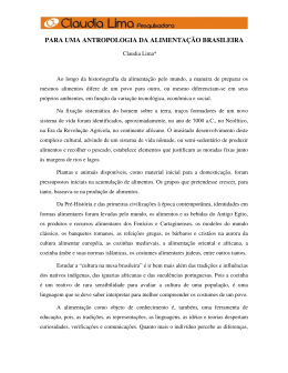 para uma antropologia da alimentação brasileira