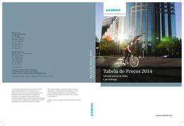 Siemens: Tabela de Preços LV 2014