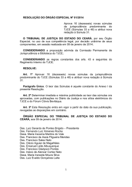 RESOLUÇÃO Nº 01 2014 - APROVAÇÃ