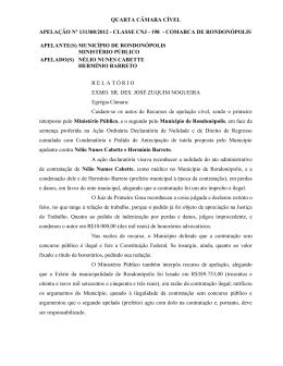 QUARTA CÂMARA CÍVEL APELAÇÃO Nº 131308/2012