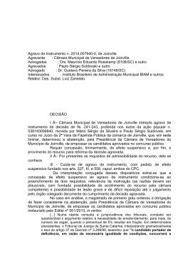 Agravo de Instrumento n. 2014.007940