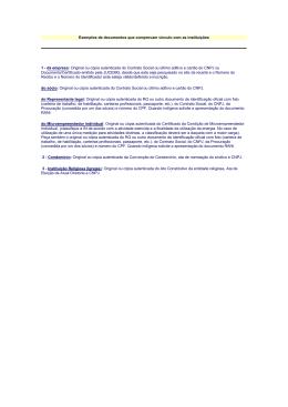 documentos relativos à sua constituição