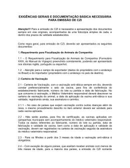 EXIGÊNCIAS GERAIS E DOCUMENTAÇÃO BÁSICA NECESSÁRIA