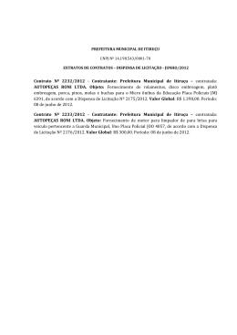 Contrato Nº 2232/2012 - Contratante: Prefeitura Municipal de Itiruçu