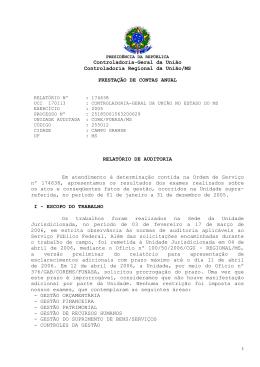 Controladoria-Geral da União Controladoria Regional da União/MS