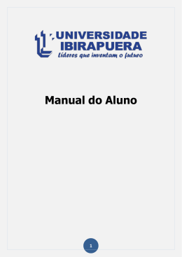 Manual do Aluno - Universidade Ibirapuera