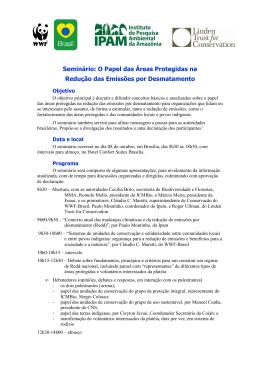 Seminário: O Papel das Áreas Protegidas na Redução das