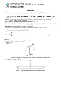 título: ensaios de resistência dos materiais de construção