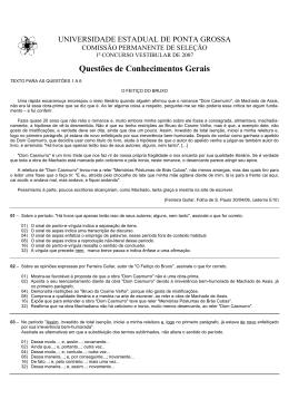 Conhecimentos Gerais - Universidade Estadual de Ponta Grossa