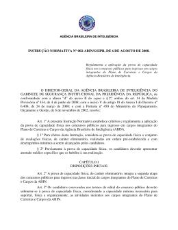 Instrução normativa n° 2 - Capacidade física
