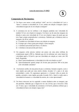 Lista de exercícios 1º ANO Composição de Movimentos: