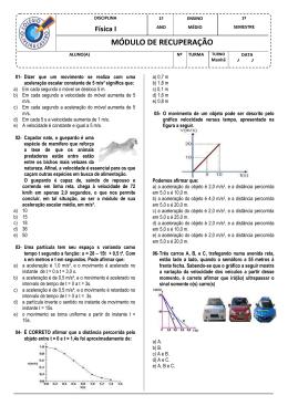 Física I - Colégio Oliveira Castro