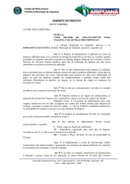 Leis nº 1245/2015 - Prefeitura Municipal de Aripuanã