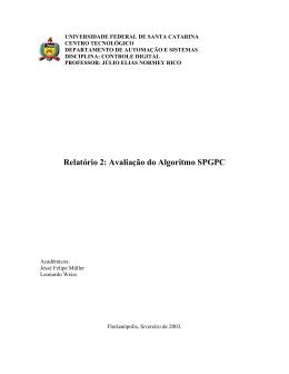 Relatório referente a primeira parte da disciplina