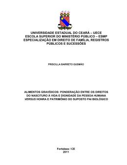 Alimentos Gravídicos - Ministério Público do Estado do Ceará