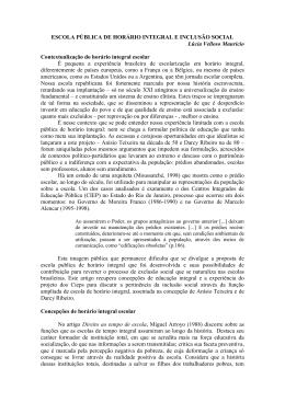 ESCOLA PÚBLICA DE HORÁRIO INTEGRAL E INCLUSÃO SOCIAL