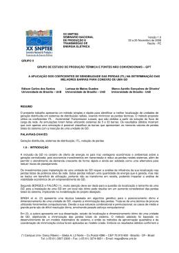 (*) Campus Univ. Darcy Ribeiro – Gleba A, L3 Norte – Cx