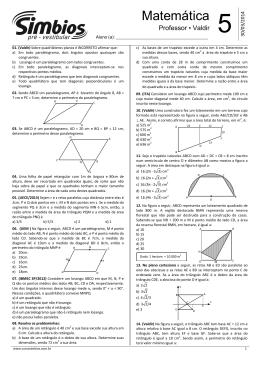 Lista 05 - Quadriláteros notáveis e áreas de figuras planas