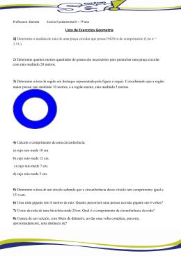 Lista de Exercícios Geometria