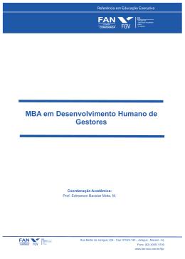 MBA em Desenvolvimento Humano de Gestores