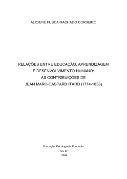 as contribuições de jean marc-gaspard itard (1774