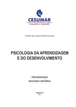 psicologia da aprendizagem e do desenvolvimento