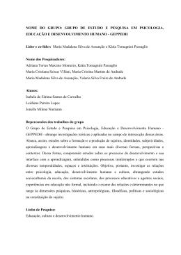 Grupo de Estudo e Pesquisa em Psicologia, Educação e