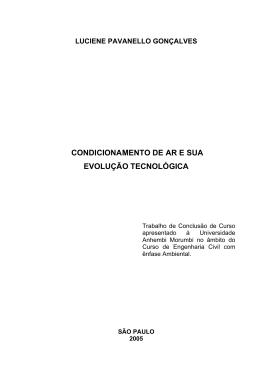 condicionamento de ar e sua evolução tecnológica