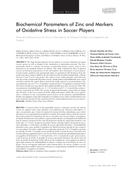 Biochemical Parameters of Zinc and Markers of Oxidative Stress in