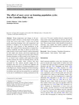 The effect of snow cover on lemming population cycles in the